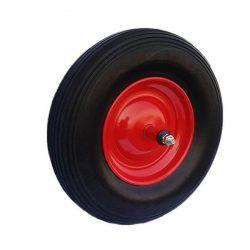 Kolo za samokolnico- polna guma; komplet z osjo; drsni ležaj 5046