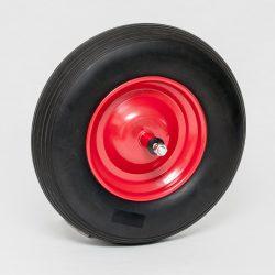 Kolo za samokolnico polna guma, 4.80/4.00-8, komplet z osjo
