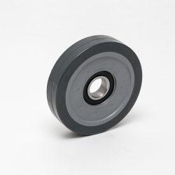 Kolo poliuretan 17LGX; 125x25mm, inox kroglični ležaj