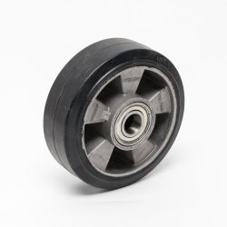 Kolo črna guma 16A; 150x50mm, kroglični ležaj