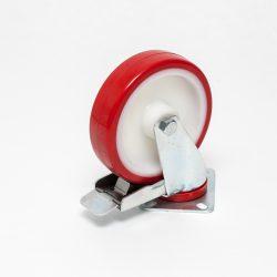 Kolo poliuretan 31SEANT; 150x40mm, z vrtljivo ploščo in zavoro, iglični ležaj