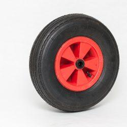 Kolo črna guma z zračnico 4.00-8, 4 plastna zračnica